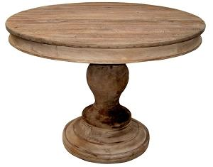 Hermosa Round Dining Table in Reclaimed Wood
