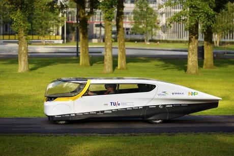 Stella, world's first solar-powered family car. (Photo: Bart van Overbeeke)