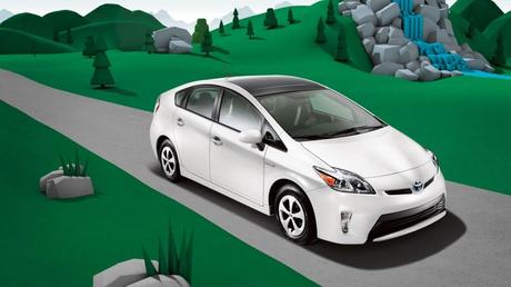 The available Solar Roof is embedded with solar panels that can power a fan to circulate ambient air through the cabin when Prius is parked in direct sunlight. (Credit: Toyota)