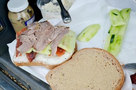 roasted goat, lunch ideas, sandwich, picnic