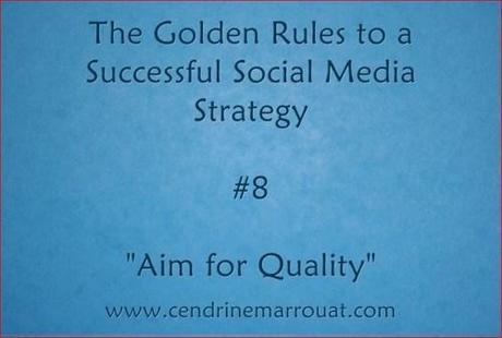 Golden rule social media strategy 8