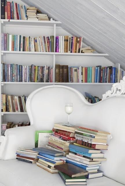 home library, cozy, cozy library