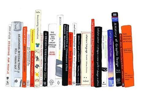 books, library, book illustration, book stack