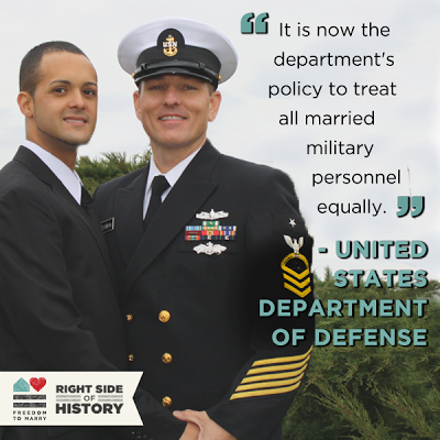Military Recognizes Marriage Equality