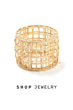 Maiyet gold and diamond cage cuff