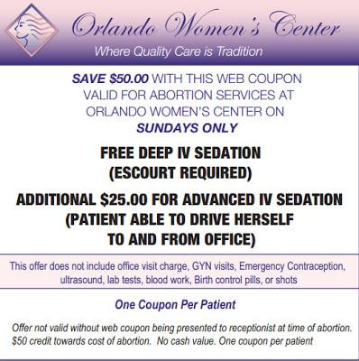 $50-off coupon to commit murder