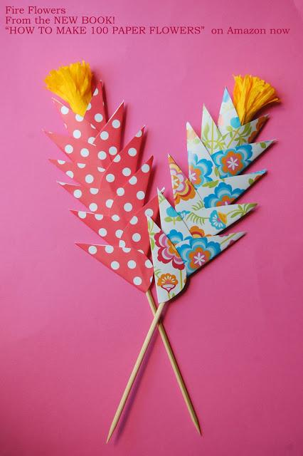 Easy paper flowers for kids diy fire flowers paperblog easy paper flowers for kids diy fire flowers mightylinksfo