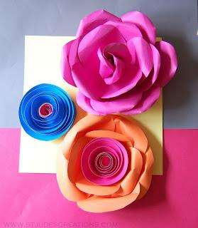 Large paper Flower Hat