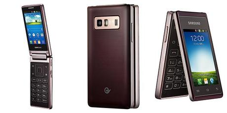 Dual screen flip phone from Samsung China