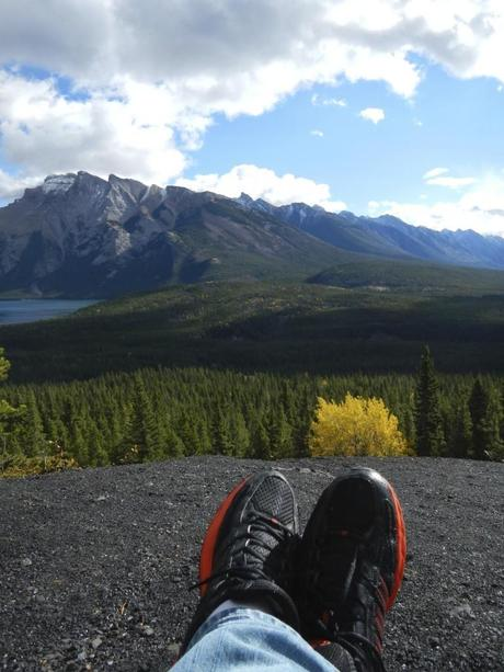 Kicking back on a mountainside in Banff