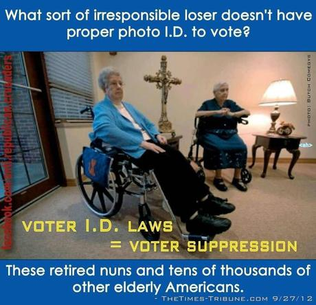 The types of people the voter ID laws effect