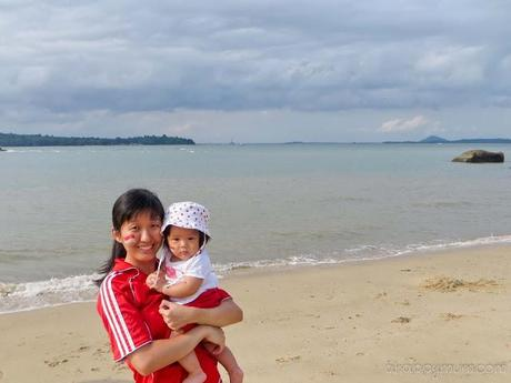 Beautiful beach and family fun @ SAF Changi Seaview Resort