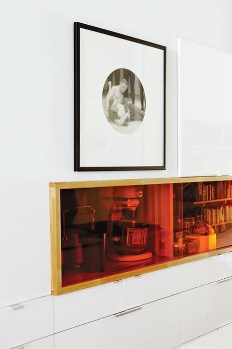 Custom cut Plexiglas storage kitchen cubbies