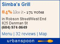 Simba's Grill on Urbanspoon
