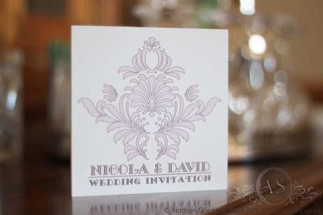 Brescia pink wedding invitation card