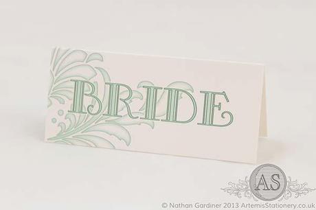 Brescia pastel green wedding place name