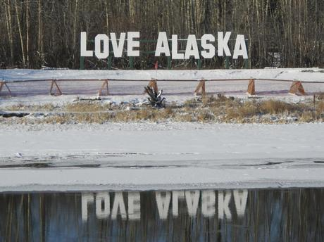 Love Alaska Sign Fairbanks - RoomWithAView