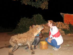 feeding hyenas mouth to mouth in Harar