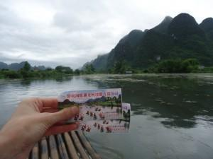 tickets for bamboo rafting in Yangshuo