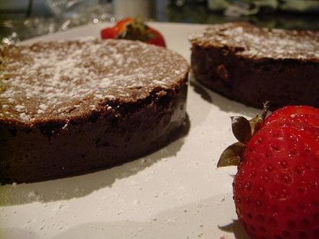 Flourless chocolate cakes, September 2009