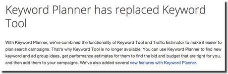 google keyword tool gone