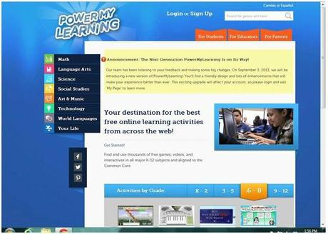 PowerMyLearning Educational Website Review