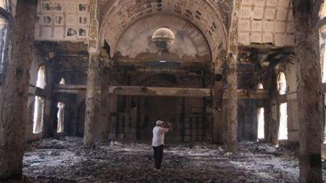 Aug. 15, 2013 - The damaged interior of the Saint Moussa Church after it was torched in sectarian violence following the dispersal of two Cairo sit-ins of supporters of the ousted Islamist President Mohammed Morsi, in Minya, south of Cairo, Egypt. (AP)