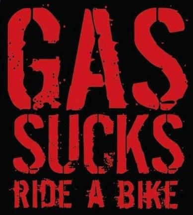 Gas sucks ride a bike