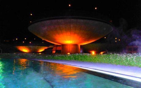 Levitating pools at AQUA DOME in Ötztal, Austria