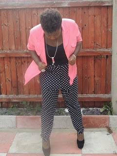 Polka Dots and Peaches Outfit