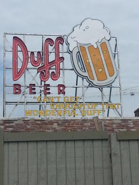 Duff Brewery is going to be an outdoor bar. In addition to the other fine Duff products, it was also offer Duff Dark. It wasn't open the day I was there, but it is now.