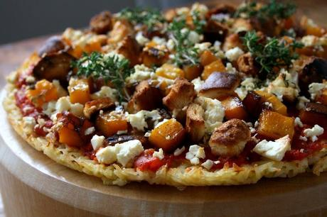 Roasted Butternut & Rice Pizza