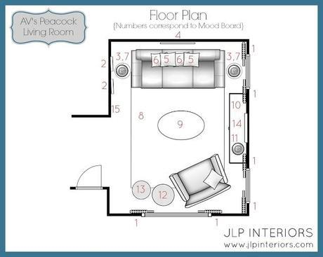 E-Design: A Peacock - Inspired Living Room