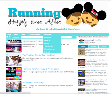 Blog makeover, #runDisney tab, and our sister page