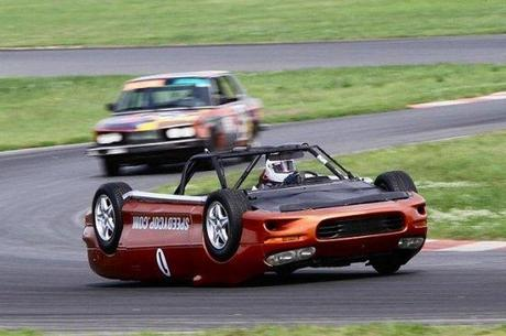 Check Out The Weird Upside Down Race Car In Action Paperblog
