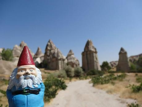 Felix the Roaming Gnome in Cappadocia, Turkey