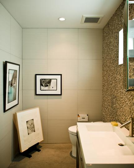 art will make any small bathroom look great even on a small budget