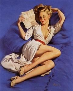 Thinking of You by Gil Elvgren