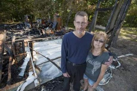Victimized by arsonists. Detroit News photo.