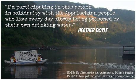 Activists Boat onto Sludge Pond; Confront Gov. Tomblin on Dangers of Coal Sludge