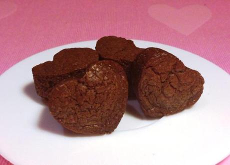 nutella brownies heart shape three ingredient recipe small bites