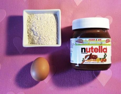 nutella three ingredient brownies chocolate spread egg plain flour recipe easy