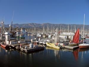 Beautifully clear day in Santa Barbara - from the marina