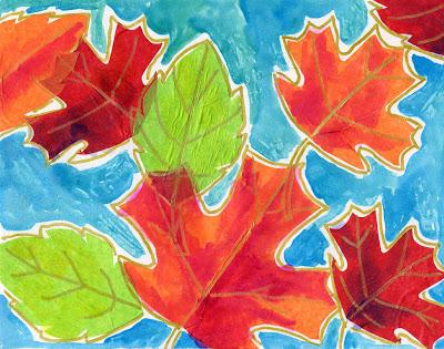 Tissue Paper Fall Leaves