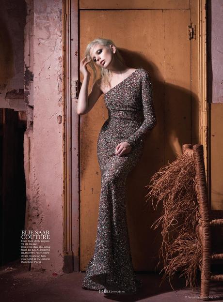 Chrystal Copland in Elie Saab Haute Couture © Benjamin Kanarek