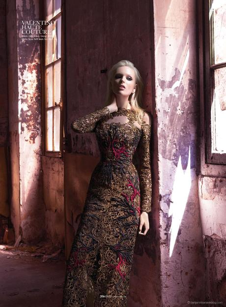 Chrystal Copland in Valentino Haute Couture © Benjamin Kanarek