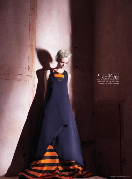 Chrystal Copland in Dior Haute Couture © Benjamin Kanarek