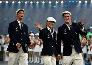 The US Olympians walk the