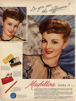 Before and After, 1940's Maybelline Ads