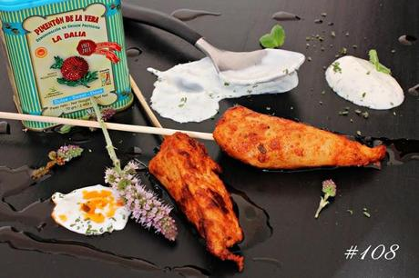 Chicken skewers with smoked paprika and mint yoghurt #108